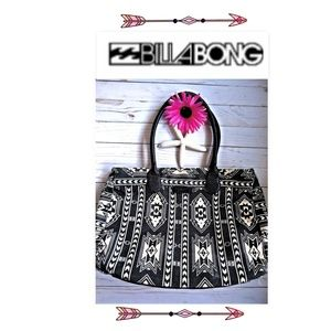 Billabong Aztec Extra Large Canvas & Leather Tote